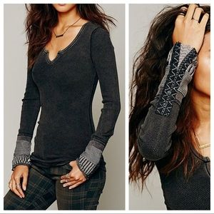 We The Free People Kyoto Cuff Thermal Black